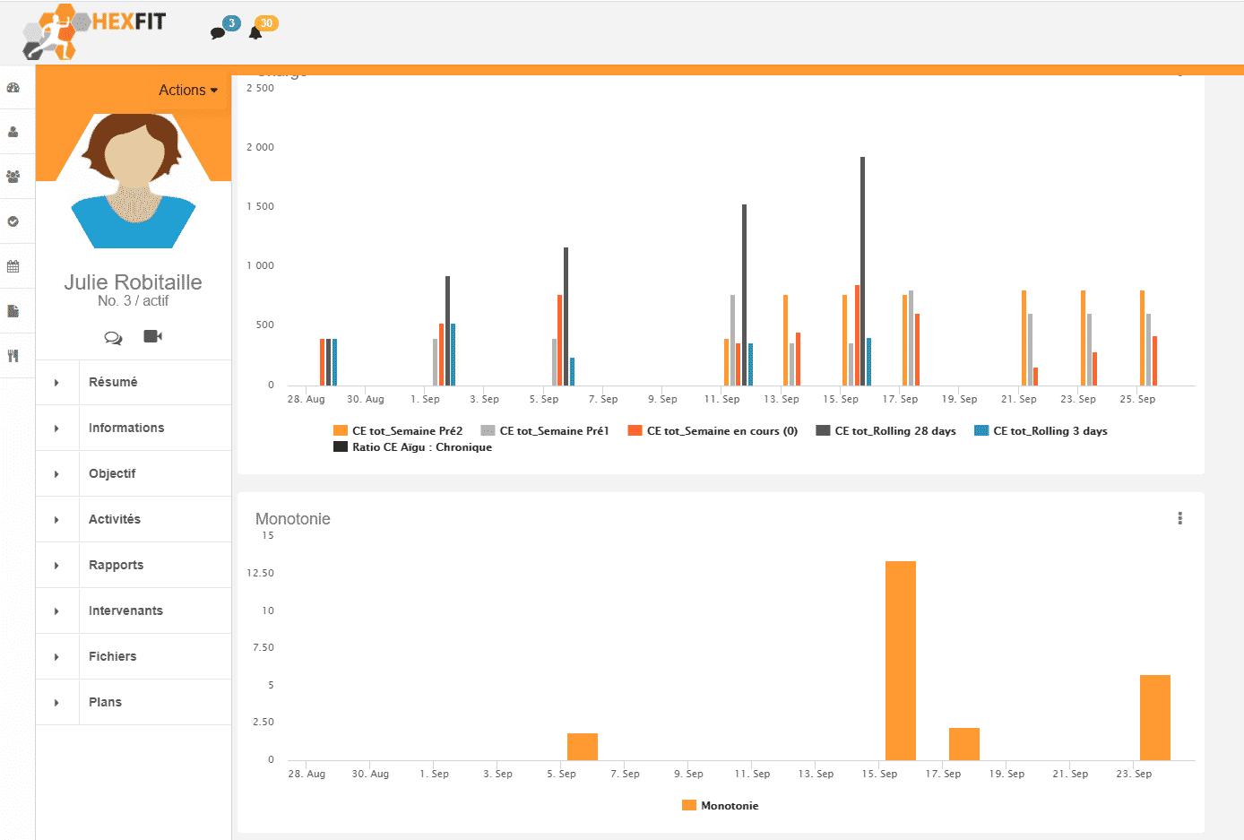 Capture d'écran du logiciel Hexfit